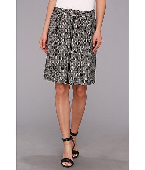 Fuste Anne Klein New York - Graphic Tweed A Line Skirt - Black Multi