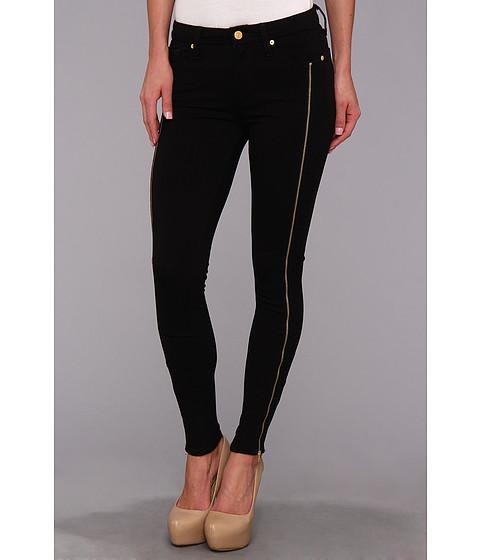 Pantaloni 7 For All Mankind - The Crop Skinny w/ Long Side Zips in Black - Black