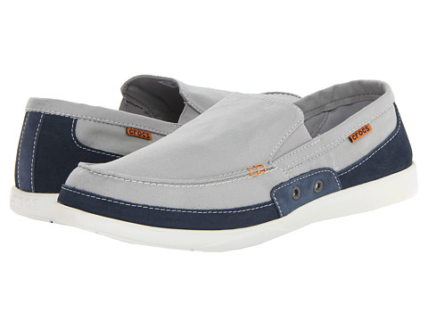 Pantofi Crocs - Walu Accent Loafer - Light Grey/Navy