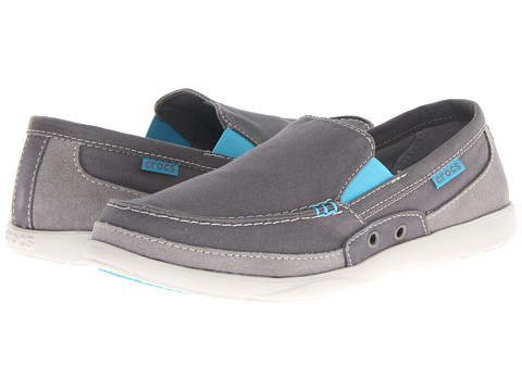 Pantofi Crocs - Walu Accent Loafer - Charcoal/Electric Blue
