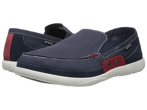 Pantofi Crocs - Walu Accent Loafer - Navy/True Red