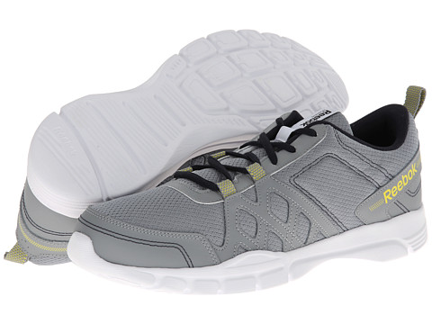 Adidasi Reebok - Trainfusion RS 3.0 Leather - Flat Grey/Ultimate Yellow/Reebok Navy/White