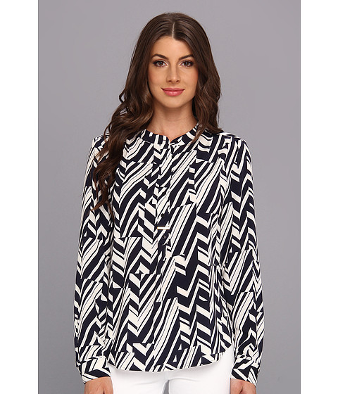 Bluze Anne Klein New York - Track Stripe L/S Blouse - Midnight Multi