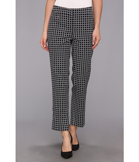 Pantaloni Anne Klein New York - Tile Print Slim Pant - Midnight Multi
