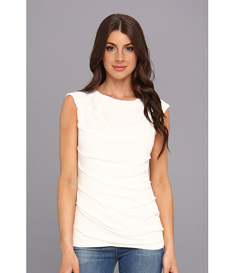 Bluze Calvin Klein - Solid Side Ruched Top - Ivory