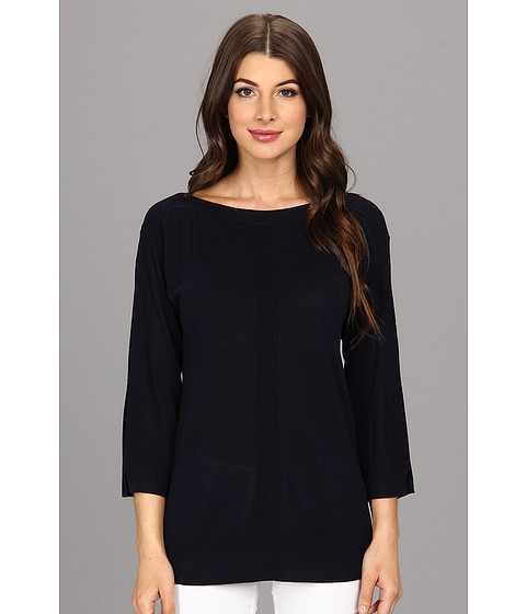 Bluze Jones New York - 3/4 Sleeve Boatneck Tunic - Navy