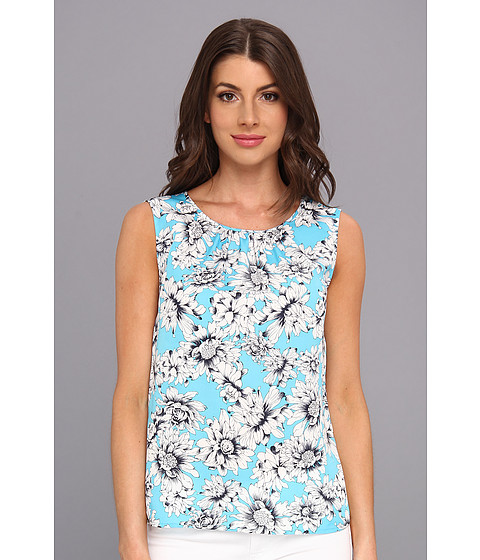 Bluze Jones New York - Sleeveless Shell - Cameo Blue Multi