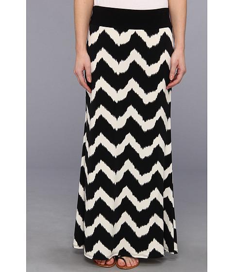 Fuste Karen Kane - Tribal Zig Zag Maxi Skirt - Black/Cream