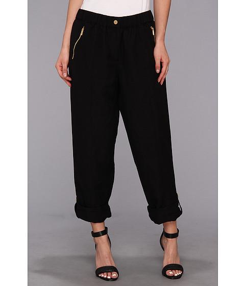 Pantaloni Calvin Klein - Linen Tab Cuff Pant - Black