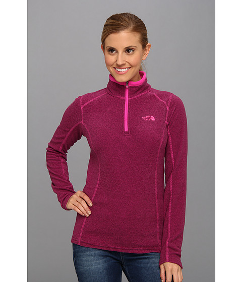 Bluze The North Face - Striped TKA Glacier 1/4 Zip - Azalea Pink/Fudge Brown Stripe