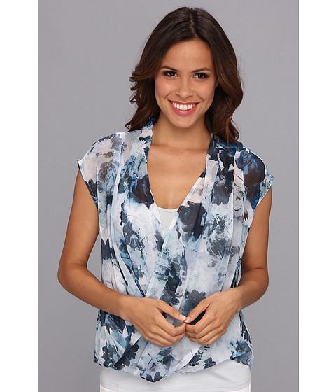 Bluze DKNY - Sea Floral Print Wrap Top - Mentha
