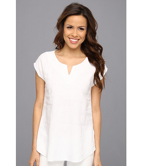 Bluze Tommy Bahama - Two Palms Embellished Short Sleeve Tunic - White