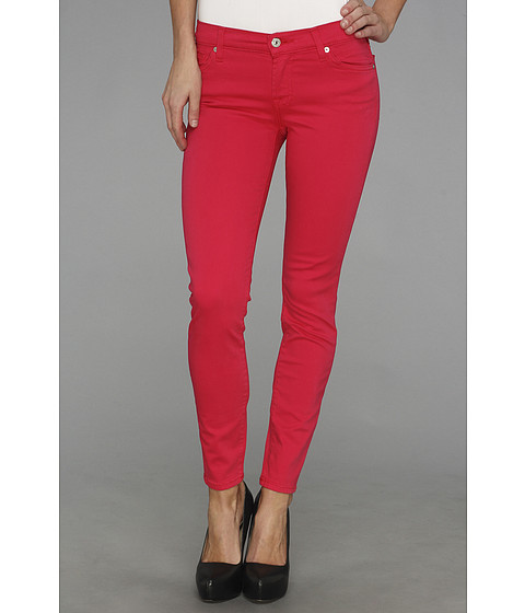 Blugi 7 For All Mankind - Ankle Skinny in Hot Fuchsia - Hot Fuchia
