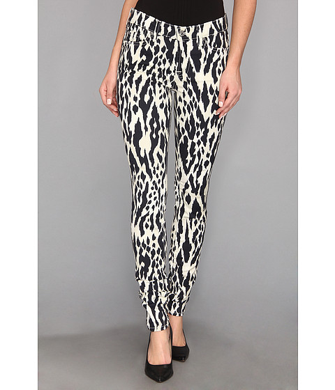 Blugi 7 For All Mankind - The Skinny w/ Contoured Waistband in Ikat Leopard - Ikat Leopard