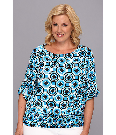 Bluze MICHAEL Michael Kors - Plus Size D-Ring Kimono Top - Summer Blue
