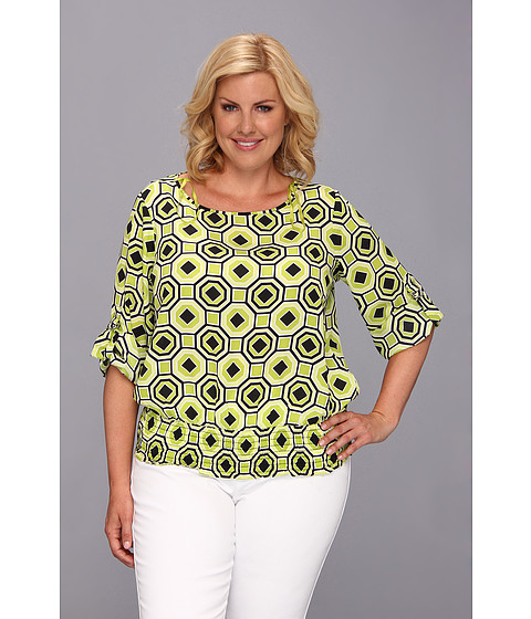 Bluze MICHAEL Michael Kors - Plus Size D-Ring Kimono Top - Fresh Lime