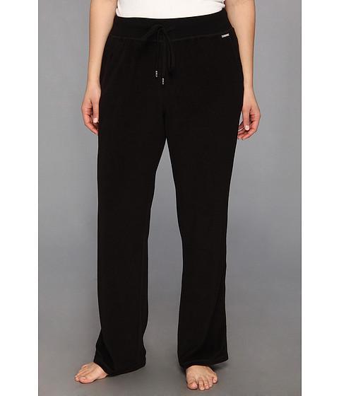 Pantaloni MICHAEL Michael Kors - Plus Size Pull On Terry Pant - Black/Silver