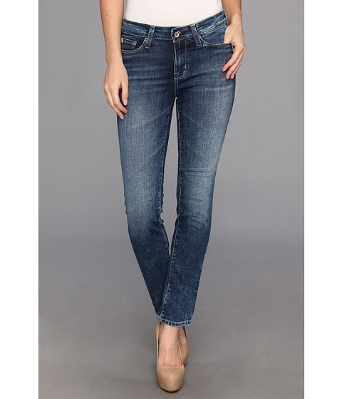 Blugi Big Star - Petite Brigette Low Rise Slim Straight Jean in 10 Year Ocean - 10 Year Ocean