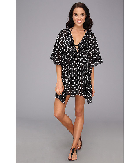 Costume de baie Echo Design - Malibu Dot Tie Butterfly Coverup - Black