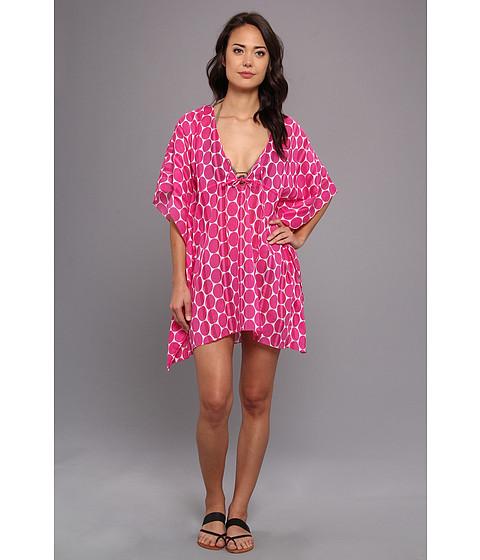 Costume de baie Echo Design - Malibu Dot Tie Butterfly Coverup - Hot Pink