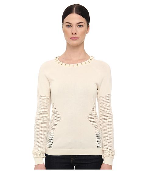 Bluze Rachel Roy - Stud Mesh Inset - Natural White