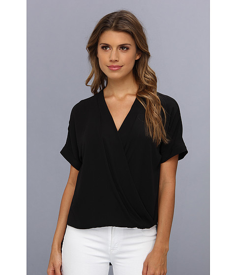 "Bluze BCBGMAXAZRIA - ""Natty\"" Wrap Top With Long Back Hem - Black"