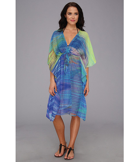 Costume de baie Echo Design - Ikat Splash Open Butterfly Coverup - Turquoise