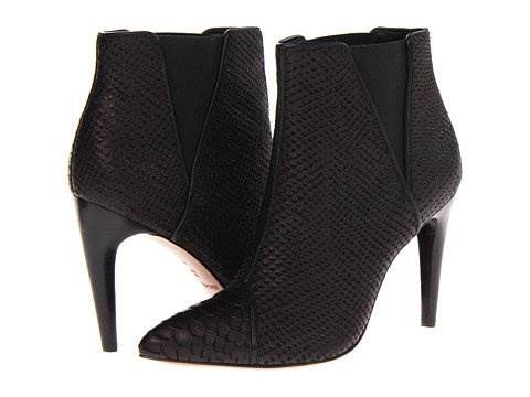 Botine Rachel Zoe - Fabian - Black Python Embossed Leather