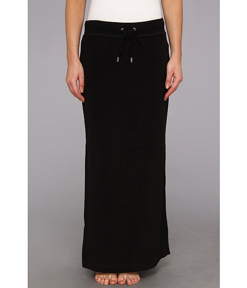 Fuste MICHAEL Michael Kors - Terry Cloth Maxi Skirt w/ Side Slits - Black/Silver