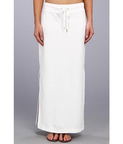 Fuste MICHAEL Michael Kors - Terry Cloth Maxi Skirt w/ Side Slits - White