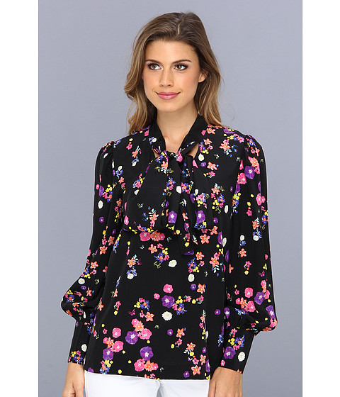 Bluze Juicy Couture - Pansy Meadow Blouse - Black Pansy Meadow