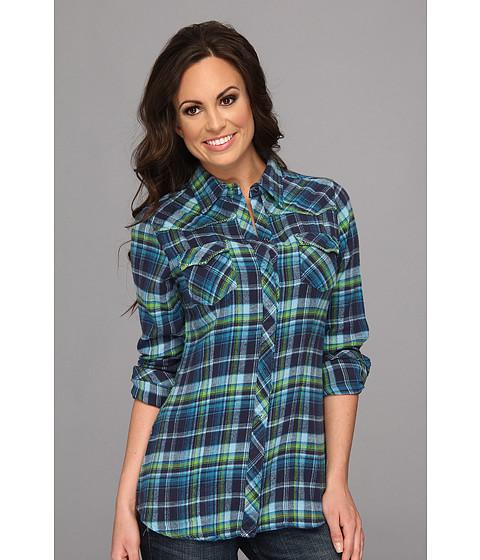 Bluze Stetson - 8988 Blue Plaid Flanel Shirt - Blue