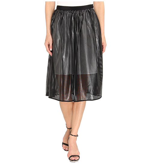 Fuste Tibi - Pavement Skirt - Black/Ivory Multi