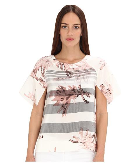 Bluze Tibi - Sierra Mesh On CDC Short Sleeve Top - Pale Blush Multi