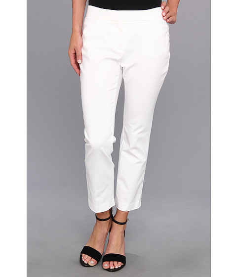 Pantaloni DKNY - Super Stretch Sateen Ankle Cropped Pant - White