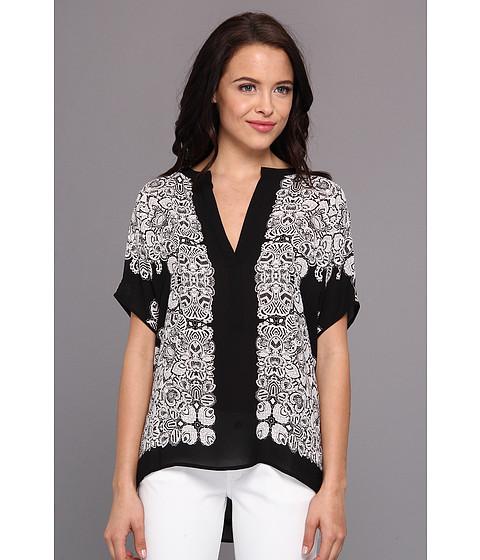 "Bluze BCBGMAXAZRIA - \""Ayanna\"" Oversized Scarf Shirt - Black Combo"