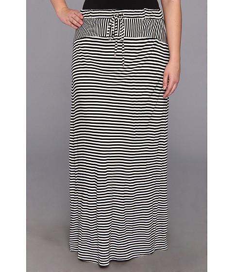 Fuste Vince Camuto - Plus Size Parallel Lines Drawstring Maxi Skirt - Rich Black