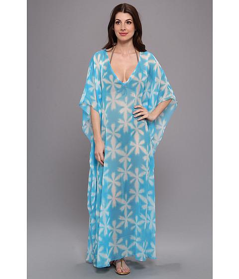Costume de baie Echo Design - Batik Long Caftan Coverup - Azure