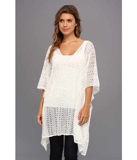 Costume de baie Echo Design - Cabo Crochet Caftan - White
