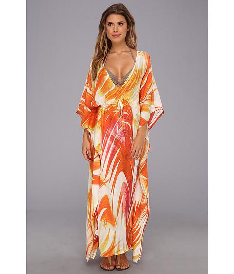 Costume de baie Echo Design - Panama Palms Silk Dress - Coral