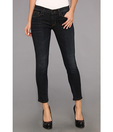 Blugi Hudson - Ava Crop Skinny w/ Perforated Leather in Shirley - Shirley