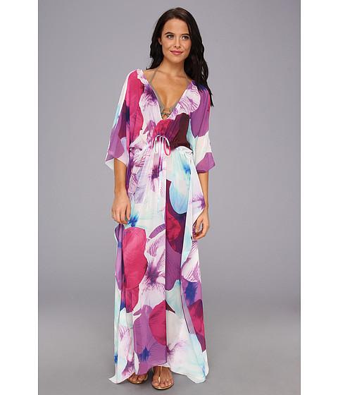 Costume de baie Echo Design - Psychedelic Pansy Long Dress - Hot Viola
