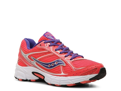 Adidasi Saucony - Grid Cohesion 7 Lightweight Running Shoe - Womens - Coral/Purple/Silver