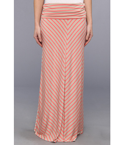 Fuste Calvin Klein - Mitered Strip Maxi Skirt - Daquiri Multi
