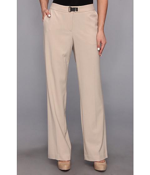 Pantaloni Calvin Klein - Lux Stretch Pant w/ Hardware - Latte
