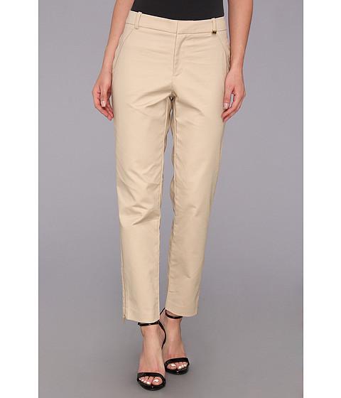 Pantaloni Calvin Klein - Skinny Double Layer Cotton Pant - Latte