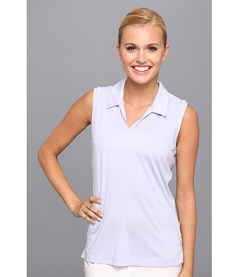 Bluze adidas - Sleeveless Microstripe Polo \14 - Avery/White