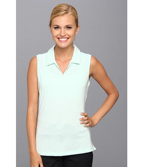 Bluze adidas - Sleeveless Microstripe Polo \14 - Fresh Green/White