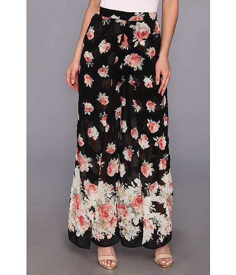 Pantaloni Gabriella Rocha - Elie Floral Chiffon Pants - Black