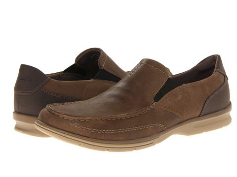 Pantofi Clarks - Rattlin Port - Brown Tumbled Leather